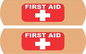 Stickertalk Bandage First Aid Vinyl Stickers 5 Inches X 1 5 Inches Stickertalk