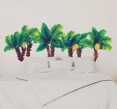 Watercolor Palm Tree Wall Sticker Tenstickers