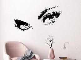 Eyelashes Wall Decal Beauty Salon Wall Decal Eyes Decal Etsy