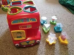 elc shape sorting bus pink or red kids
