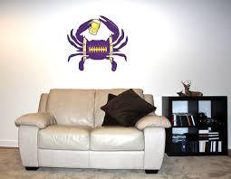 Shore Redneck Purple Black Gold Football Beer Crab Wall Decal Shoreredneck Com