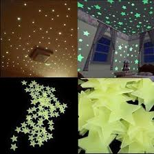 100pcs 3d Star Wall Stickers Decal Glow In The Dark Baby Kids Bedroom Home Decor 9 38 Picclick