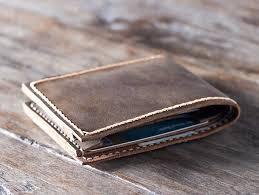 handmade leather wallet best groomsmen
