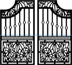 Door Design Fence Gate Modern Style Download Free Vector
