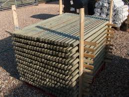 10 X 1 8m 6ft Tall X 40mm Diam Round Wooden Treated Fence Posts Or Stakes With For Sale Online Ebay