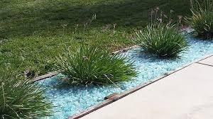 backyard fire glass landscaping rocks