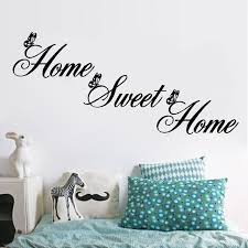 Home Sweet Home Wall Stickers Creative Diy Removable Letter Wall Decals Art Decor For Living Room Bedroo Kids Room Wall Decor Wall Decor Stickers Sticker Decor