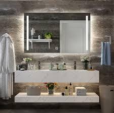 square bathroom vanity mirror led light