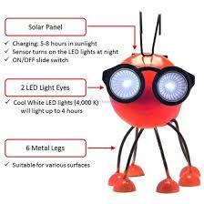 animal red ants solar garden led light