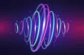bright neon lights wallpaper free vector