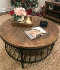 round coffee table with caster wheels