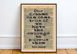 walt disney film literary quote art print gift poster wall home