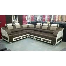 modern cotton designer l shape sofa set