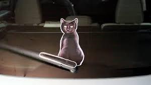 Black Cat Wagging Wiper Car Decal Sticker Youtube