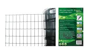 green pvc coated garden fence wire