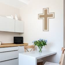 Simple Cross Wall Decal Jesus Cross Wall Stickers Wallums