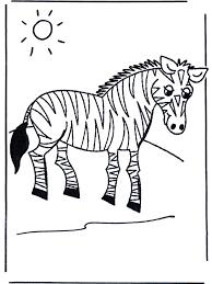 Kinder Zebra Kleurplaat Dieren