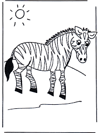Zebra Kleurplaten Dierentuin