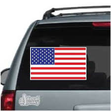 Flat American Flag Decals Stickers Decal Junky