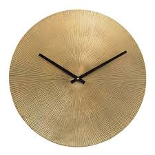 starburst wall clock antique gold
