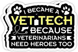 Amazon Com Goldbabytee Vet Tech Heroes Gifts For Veterinary Technicians 4x3 Vinyl Stickers Laptop Decal Water Bottle Sticker Set Of 3 Home Kitchen