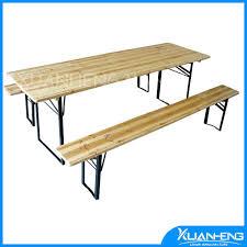 wooden beer table set garden furniture