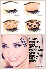 cheetah print makeup tutorial