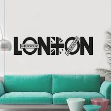 modern london words quotes home decoration bedroom poster mural