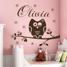 Name Wall Decal Owl Decorations Nursery Baby Girl Room Bedroom Decor Vinyl Decals Custom Personalized Name Stickers Mural Yk 8 Sticker Mural Decorative Vinylbedroom Decor Aliexpress