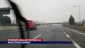 Etg - Incidente in autostrada sulla A4. Muore 27enne comasco - YouTube