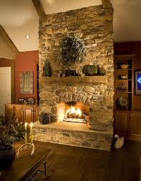 25 stone fireplace ideas for a cozy