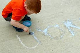 Chalk Painting Letters