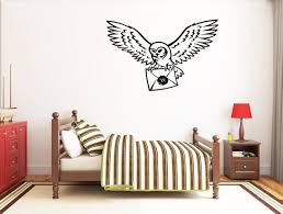 Harry Potter Owl Wall Decal Hogwarts Wall Sticker Golden Etsy