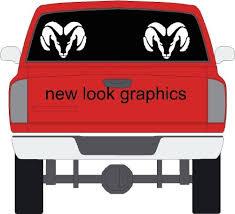Dodge Ram Rear Window Decals Set Of 2 Buy Online In Belize At Desertcart