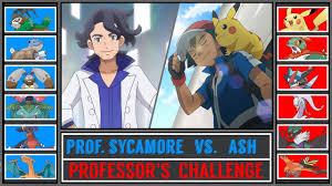 Ash vs. Professor Sycamore (Pokémon Ultra Sun/Moon) - Kalos ...