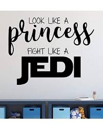 New Savings On Vinyl Wall Decal For Girl S Bedroom Or Playroom Star Wars Princess Jedi Quotation Small Large Sizes Pink Purple Black White Gold Silver 25 Colors