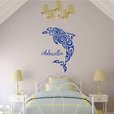 Personalized Dolphin Wall Decal Vinyl Decor Wall Decal Customvinyldecor Com