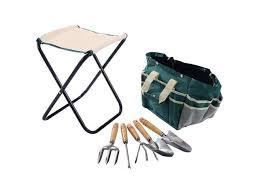 tool bag set with a folding stool