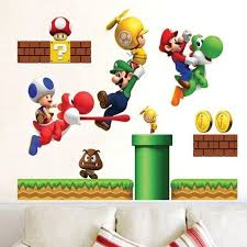 Super Mario Wall Decal The Treasure Thrift