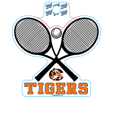 Sticker B84 C Tiger Tennis Cowley College Bookstore