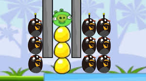Angry Birds Bomb 2 - BOMBER THE BLUE PIGS OFF THE GOLDEN EGGS ...