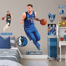 Luka Doncic Dallas Mavericks Fathead 10 Pack Life Size Removable Wall Decal