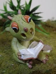 reading dragon fairy garden miniature
