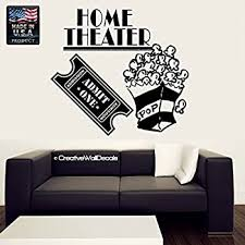 Amazon Com Wall Decal Vinyl Sticker Decals Art Decor Design Sign Home Theater Movie Film Ticket Family Pop Corn Night Friends Bedroom Dorm Modern R385 Home Kitchen