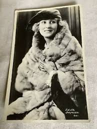 Edith Johnson Vintage Postcard Silent Film Actress Actor RPPC Real Photo |  eBay