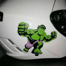 Customised Decal Stencil Sticker Design Hulk Cartoon Avengers Motorcycle Decal Helmet Decal Design Craft On Carousell