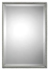 silver beaded regtangular beveled wall