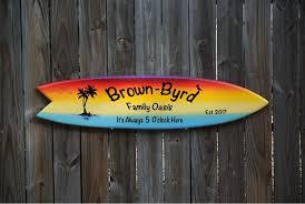 decor personalized surfboard wall art