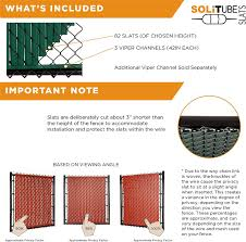 Solitube Slat Privacy Inserts For Chain Link Fence Double Wall Vertical Bottom Locking Slats With Wings For 6 Fence Height Black Amazon Ca Patio Lawn Garden