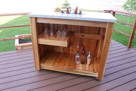 concrete bar cart with led lights